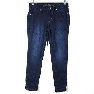 JAG Jeans Low Rise Slim Ankle Cuffed Dark Wash 6